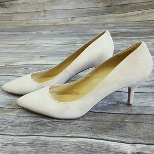 Joe Fresh Suede Kitten Heels Pointed Toe Shoes